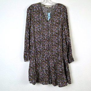 NWT Loft Floral Prairie Long Sleeve Blouse Medium